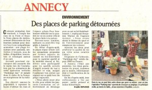 Article Dauphine 19-09-2009 PARKing DAY Annecy