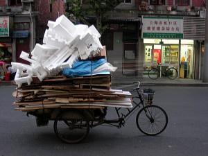 Transport de charges lourdes à vélo