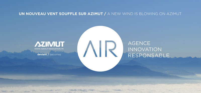 AZIMUT devient / becomes  AIR - Agence Innovation Responsable